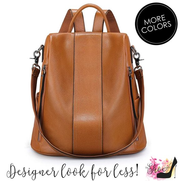 My Bag Lady Online Handbags - Adult Leather Luxury Backpack - 4 Way Carry